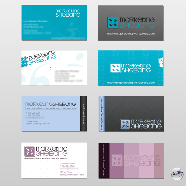 stationery business card style examples